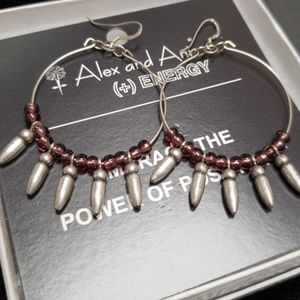 NEW Alex and Ani Spikes of Confidence Earrings